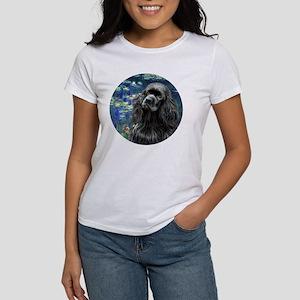 J-ORN-Lilies5-Cocker-black Women's T-Shirt
