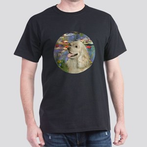 J-ORN-Lilies2-Cocker-buff2 Dark T-Shirt