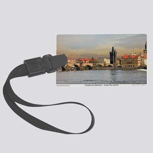 Prague - Charles Bridge Panorami Large Luggage Tag
