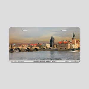Prague - Charles Bridge Pan Aluminum License Plate