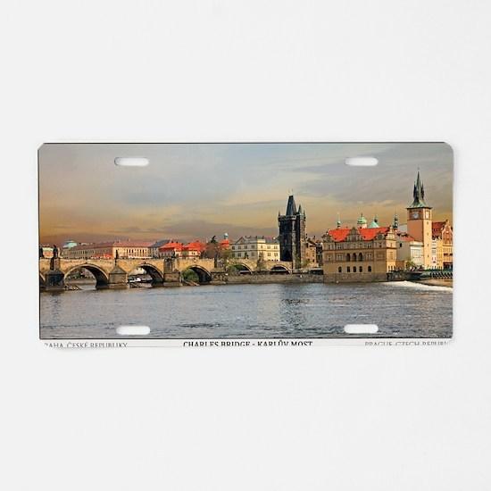 Prague - Charles Bridge Pan Aluminum License Plate