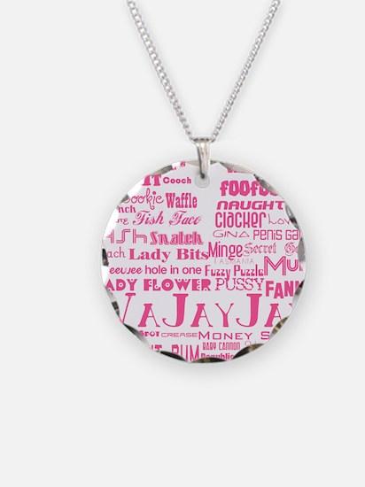 V is for Vagina Pink Necklace