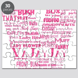 V is for Vagina Pink Puzzle