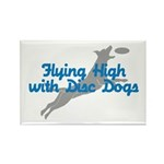 Disc Dog (2) Rectangle Magnet (10 pack)