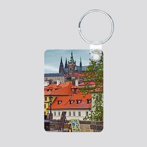 Prague - St Vitus and Prag Aluminum Photo Keychain