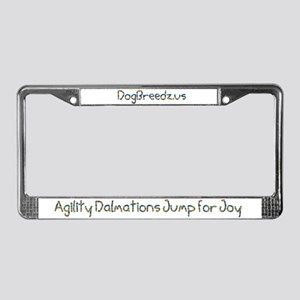 Agility Dalmations Jump License Plate Frame