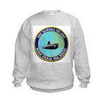 USS BLUEGILL Kids Sweatshirt