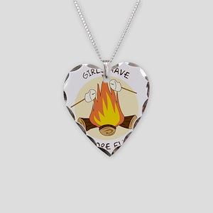 GirlsSmoreFun Necklace Heart Charm