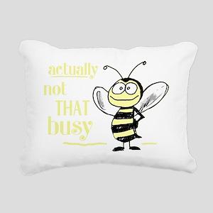 notthatbusybeedark Rectangular Canvas Pillow