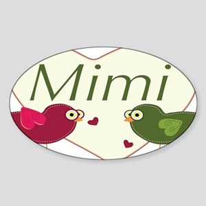 mimilovebirds Sticker (Oval)