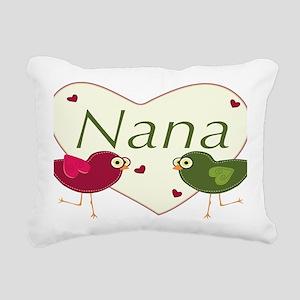 nanalovebirds Rectangular Canvas Pillow