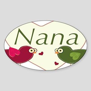 nanalovebirds Sticker (Oval)