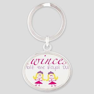 twincesswithgirls Oval Keychain