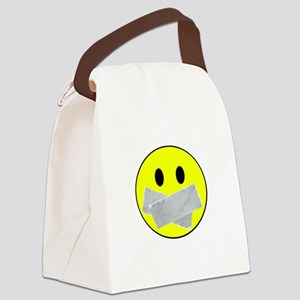 silence white Canvas Lunch Bag