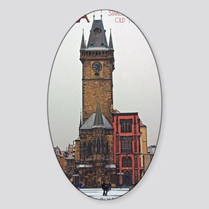 Prague Old Town Hall Sticker (Oval)