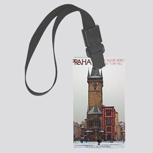 Prague Old Town Hall Large Luggage Tag