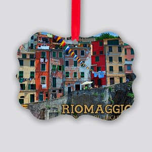 Riomaggiore Waterfront Picture Ornament