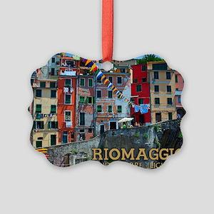 Riomaggiore Waterfront Picture Ornament