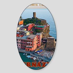 Vernazza Belforte Castle Sticker (Oval)