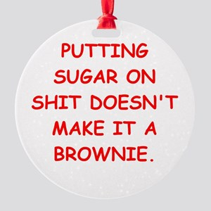 BROWNIES Round Ornament