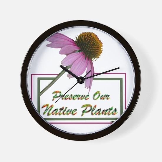Native Plants Wall Clock