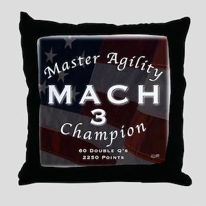 MACH 3 Throw Pillow