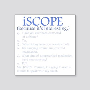 "iscope_light Square Sticker 3"" x 3"""