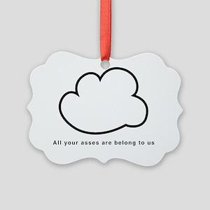 Cloud computing black text Picture Ornament