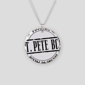 St Pete Bch Title W Necklace Circle Charm