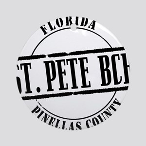 St Pete Bch Title W Round Ornament