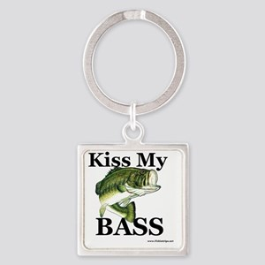 kiss_my_bass_new Square Keychain