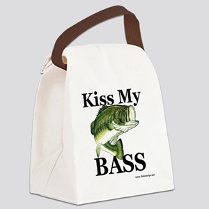 kiss_my_bass_new Canvas Lunch Bag