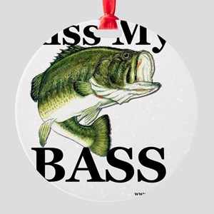 kiss_my_bass_new Round Ornament