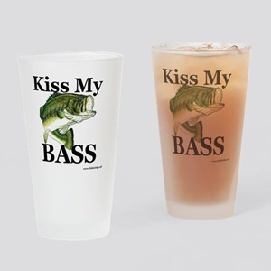 kiss_my_bass_new Drinking Glass