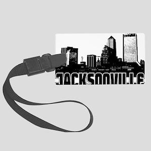 Jacksonville Skyline Large Luggage Tag