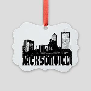 Jacksonville Skyline Picture Ornament