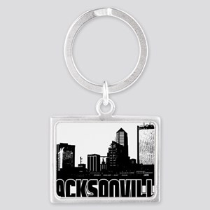 Jacksonville Skyline Landscape Keychain