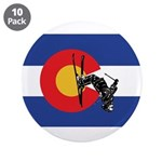 """A Snow Skier Doing Flip 3.5"""" Button (10 Pack)"""