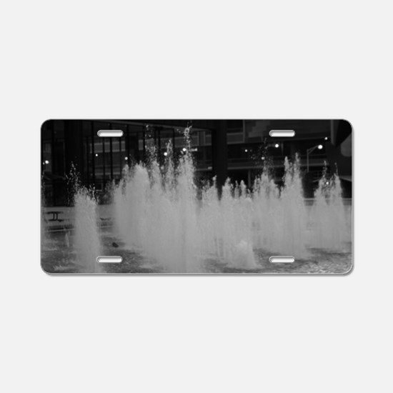 bw daley center fountain Aluminum License Plate