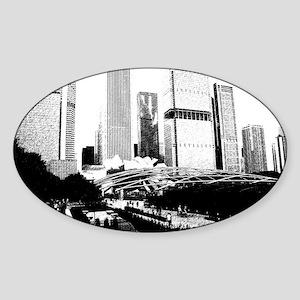 bw millennuimpark sketch 1 Sticker (Oval)