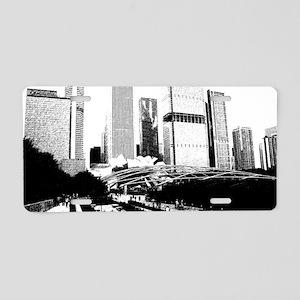bw millennuimpark sketch 1 Aluminum License Plate