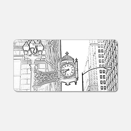 bw sketch filter marshall f Aluminum License Plate
