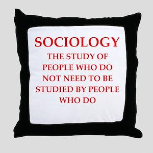 sociology Throw Pillow