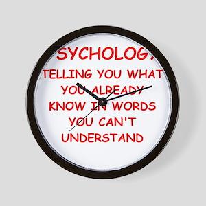 psychology Wall Clock