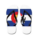 A Snow Skier Doing Upside Down In The Flip Flops