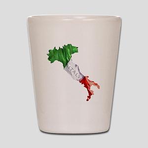 Italian Flag Map Shot Glass