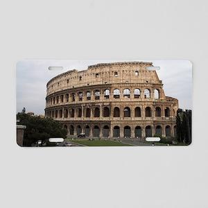 Colosseum Aluminum License Plate