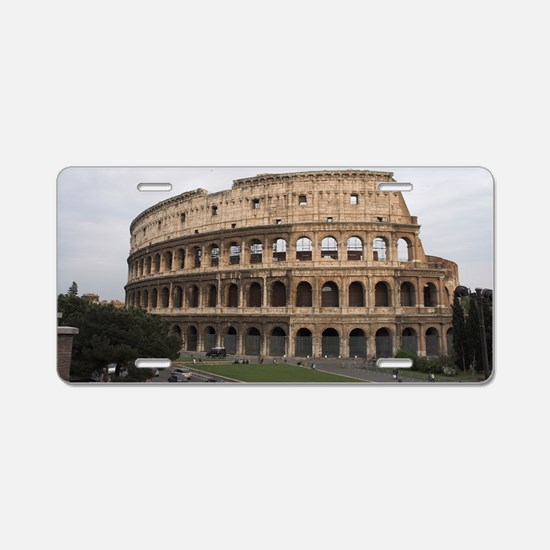 Colosseum Aluminum License Plate
