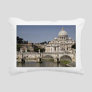 Vatican over the River Rectangular Canvas Pillow