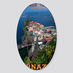 Vernazza from Above Sticker (Oval)